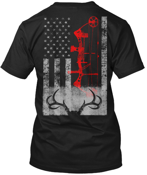 Limited Edition Deer Hunting Flag T-Shirt Back