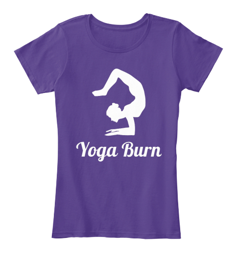 Yoga Burn Purple Women's T-Shirt Front
