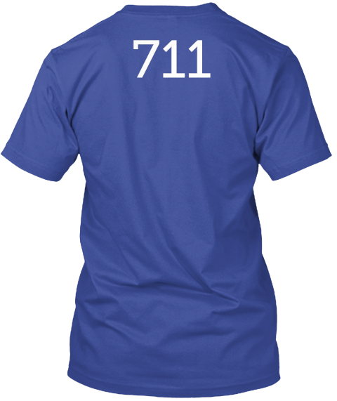 711 Deep Royal T-Shirt Back