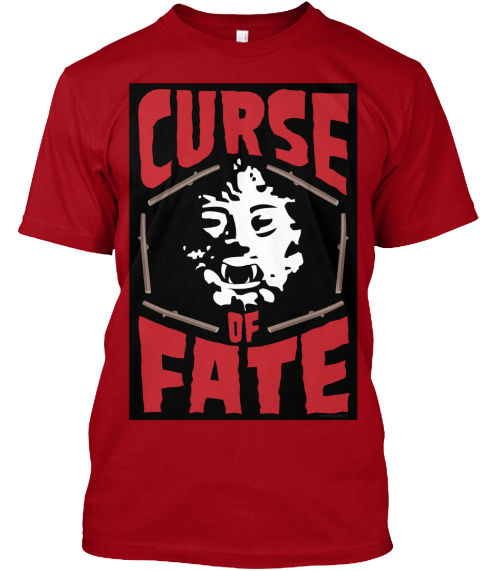 'curse Of Fate' Hybrid Horror Movie Deep Red T-Shirt Front