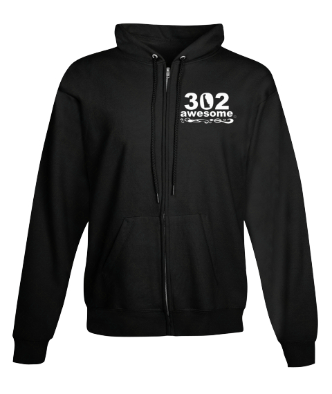 302 Awesome Black T-Shirt Front
