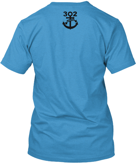 Keep Calm Heathered Bright Turquoise  T-Shirt Back