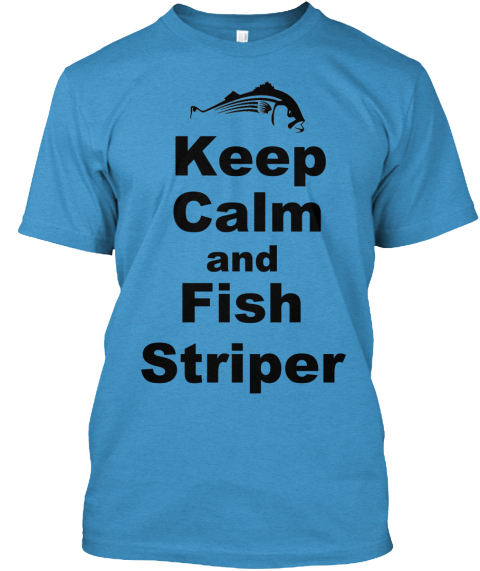 Keep Calm Heathered Bright Turquoise  T-Shirt Front