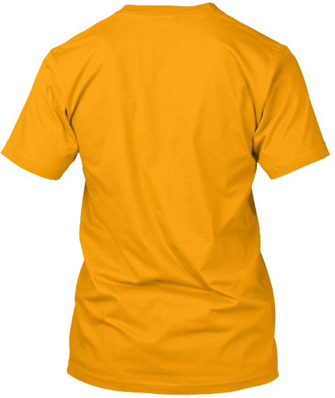 School Bus Drivers Rock! Gold T-Shirt Back