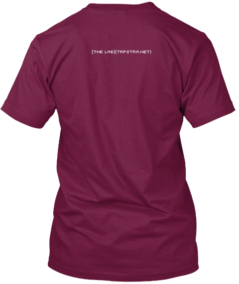 **Bold** And  Beautiful  Cranberry T-Shirt Back