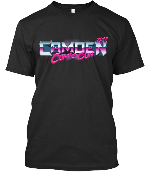 Camden Comic Con 2017 Commemorative Tee Black T-Shirt Front