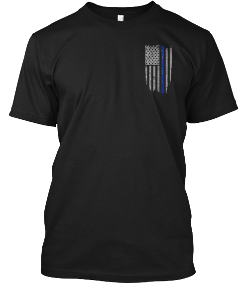 Limited Edition   Thin Blue Line Black T-Shirt Front