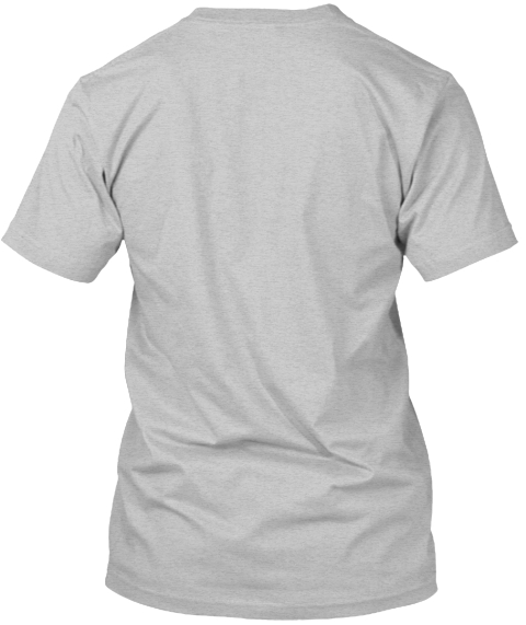 Fight With Might Light Heather Grey  T-Shirt Back