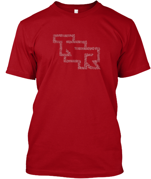 Tsr In Dice   Dungeons And Dragons Deep Red T-Shirt Front