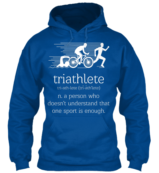 Triathelete Tri Ath Lete (Tri Ath Lete) N. A Person Who Doesn't Understand That One Sport Is Enough. Sweatshirt Front
