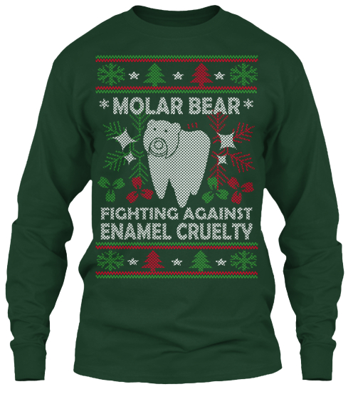 Molar Bear Fighting Against Enamel Cruelty Long Sleeve T-Shirt Front