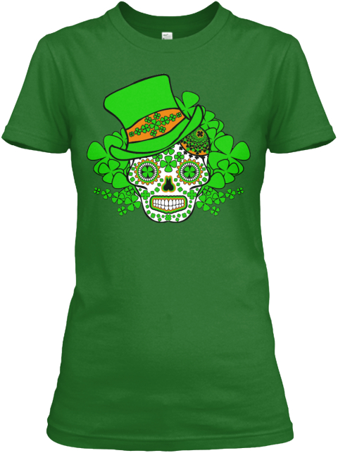 Happy St Patricks Day Irish Green Women's T-Shirt Front