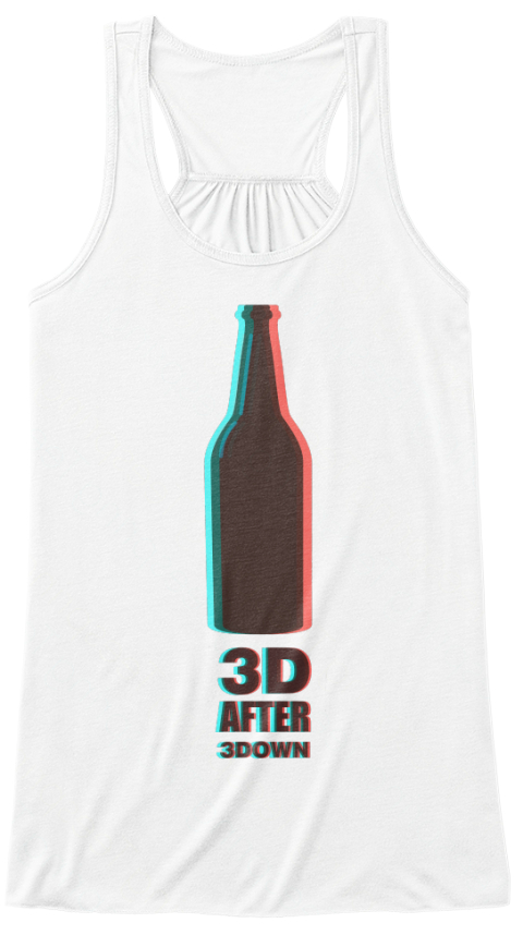 Woman´S 3 D Beer T Shirt White Women's Tank Top Front