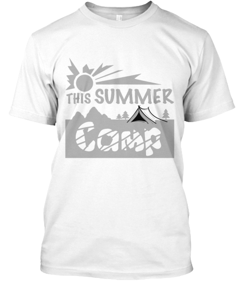 This Summer Camp White T-Shirt Front