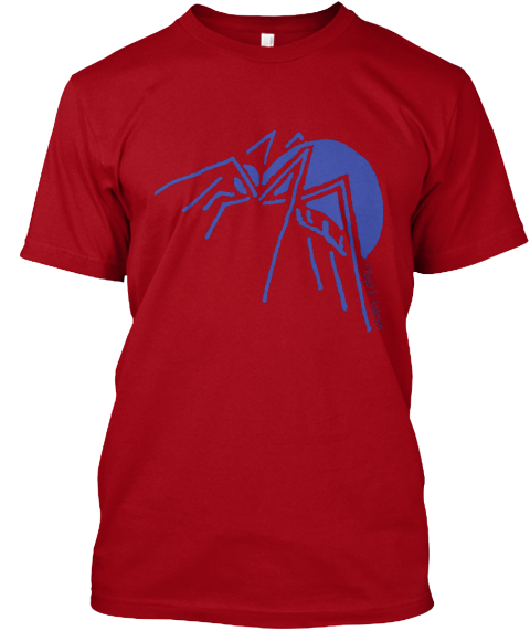 Spider Deep Red T-Shirt Front
