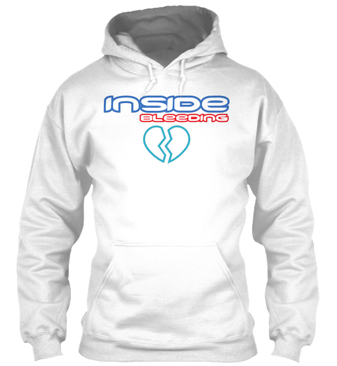 Inside Bleeding   White Sweatshirt Front