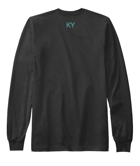 Ky Black Long Sleeve T-Shirt Back