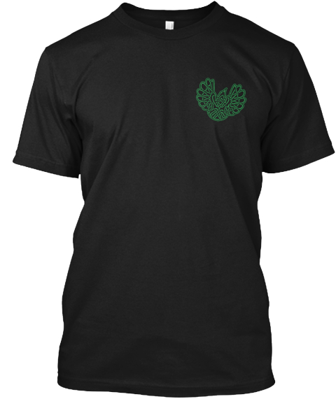 Have Celtic Spirit  Black T-Shirt Front