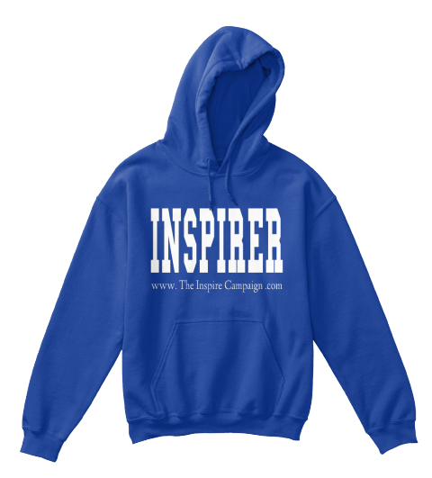 Inspirer Www. The Inspire Campaign .Com Royal T-Shirt Front