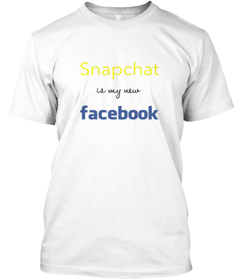 Snapchat Facebook White T-Shirt Front