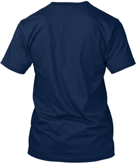 Don't Tell Me Your Life Story! Navy T-Shirt Back