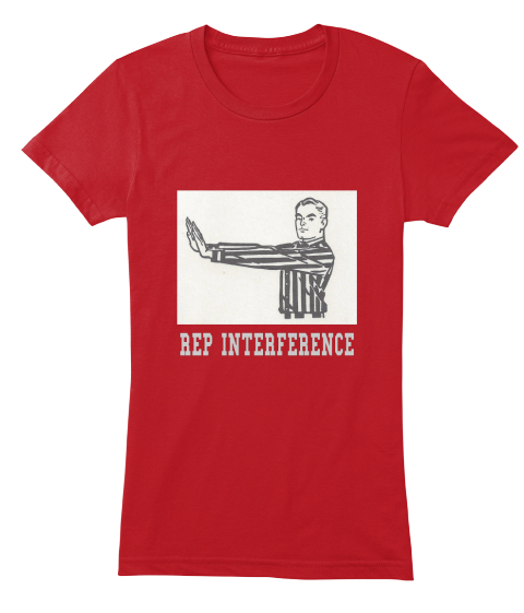 Rep  Interference Red Women's T-Shirt Front