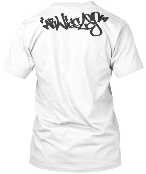Wigs Paisley White T-Shirt Back
