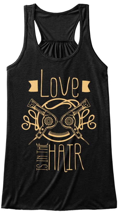 Love Is In The Hair Black Women's Tank Top Front