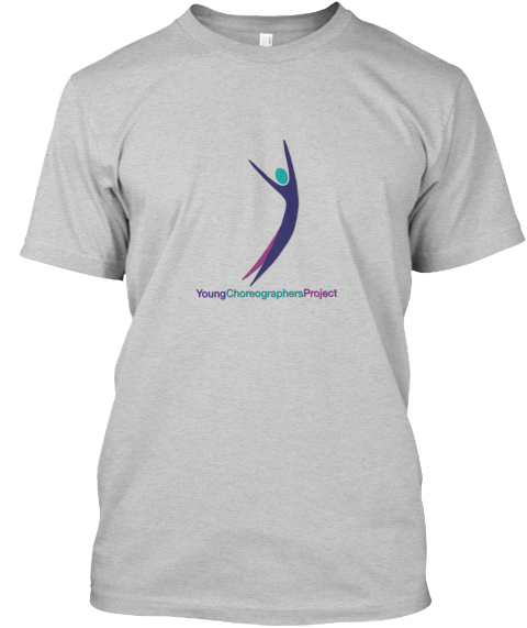 Young Choreographers Project Light Steel T-Shirt Front