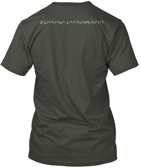 Jaxxon Murphy Gear Smoke Gray T-Shirt Back