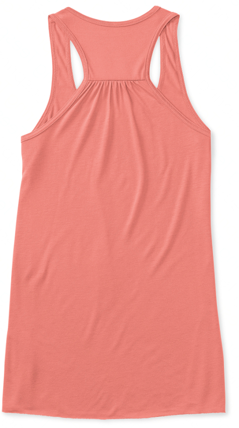 Women Crossing The Line Coral Women's Tank Top Back