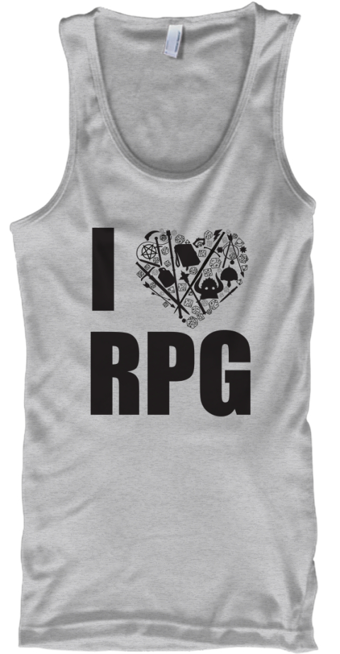 I Heart Rpg 2 Sport Grey Tank Top Front