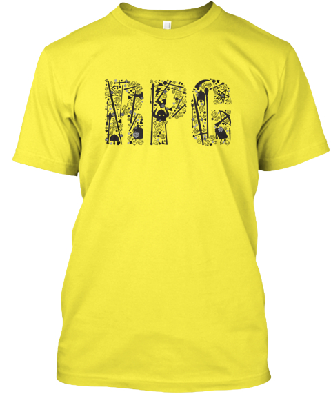 Rpg In All Loot   Roleplaying  Yellow T-Shirt Front