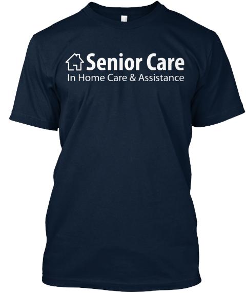 Navy Blue Senior Care Logo New Navy T-Shirt Front