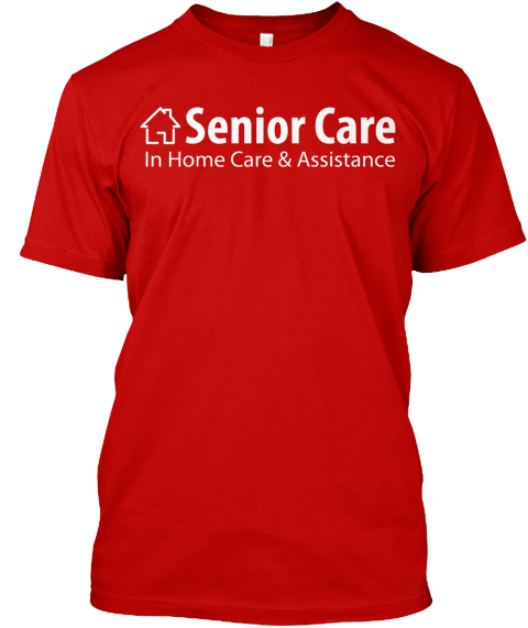 Red Senior Care Classic Red T-Shirt Front