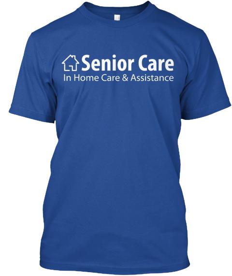 Blue Senior Care Deep Royal T-Shirt Front