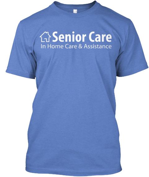 Heathered Royal Senior Care Heathered Royal T-Shirt Front