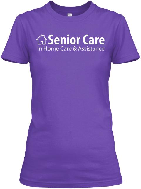 Woman Purple Senior Care Purple Rush Women's T-Shirt Front
