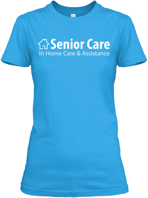 Woman Turquoise Senior Care Turquoise Women's T-Shirt Front
