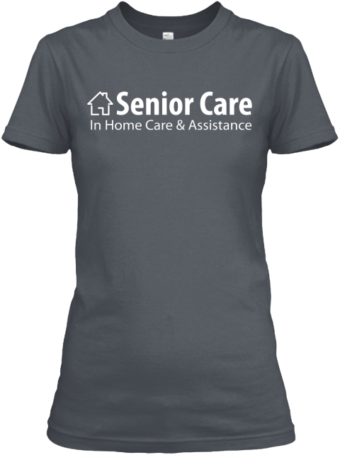 Woman Gray Senior Care Heavy Metal Women's T-Shirt Front