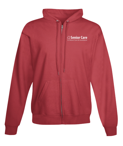 Senior Care In Home Care & Assistance Deep Red Sweatshirt Front