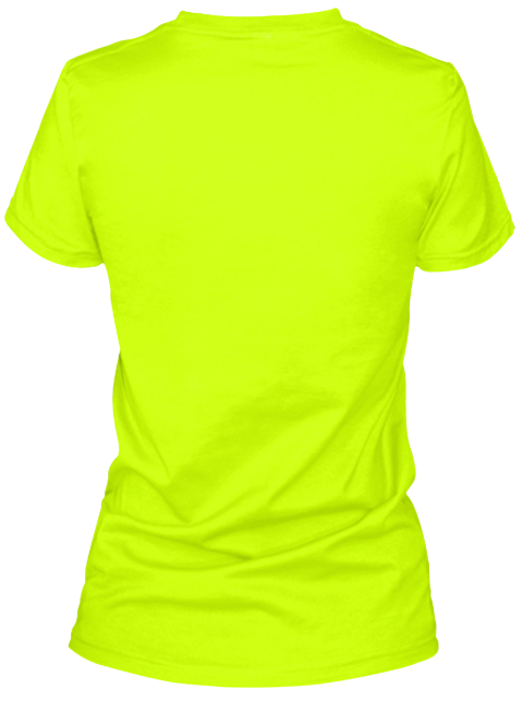 A Woman's Place Is In The Lab Safety Green Women's T-Shirt Back