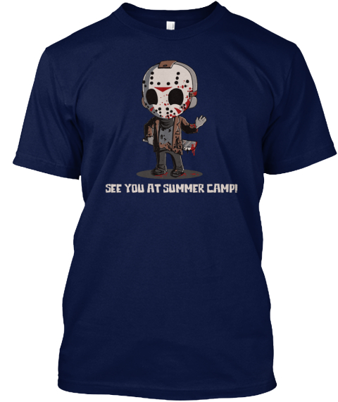 See You At Summer Camp Shirt 2017 Navy T-Shirt Front