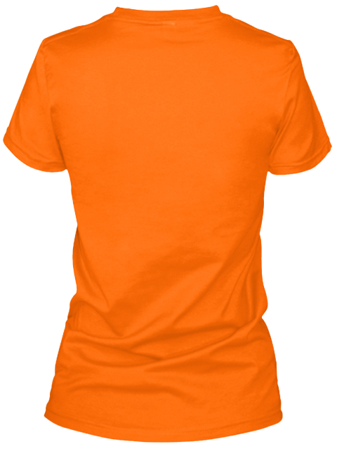 The Body Orange Women's T-Shirt Back