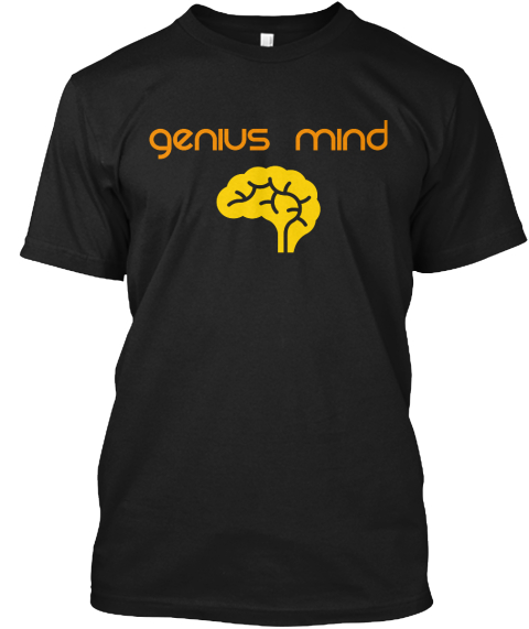 Genius Mind Black T-Shirt Front