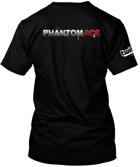 Glow Drumstream Hype Phantom Ace  Gear! Black T-Shirt Back