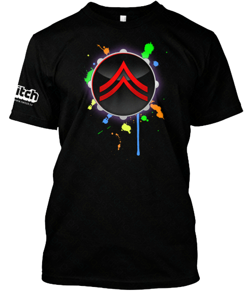 Glow Drumstream Hype Phantom Ace  Gear! Black T-Shirt Front