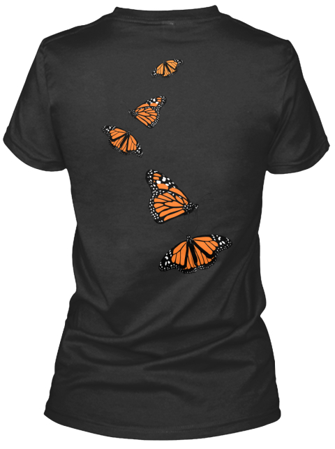 Monarch Passion Black Women's T-Shirt Back