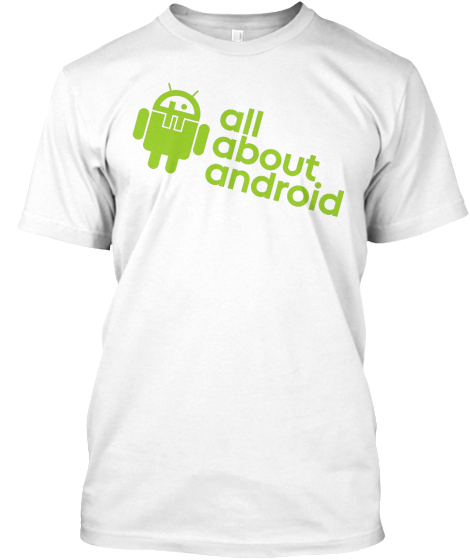T Wi T.Tv All About Android  Green Logo T-Shirt Front