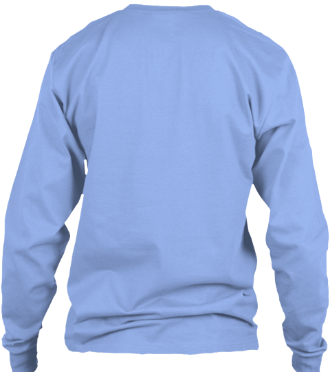Pow Pow Light Blue Long Sleeve T-Shirt Back